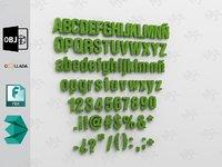 alphabet1 alphabets 3D