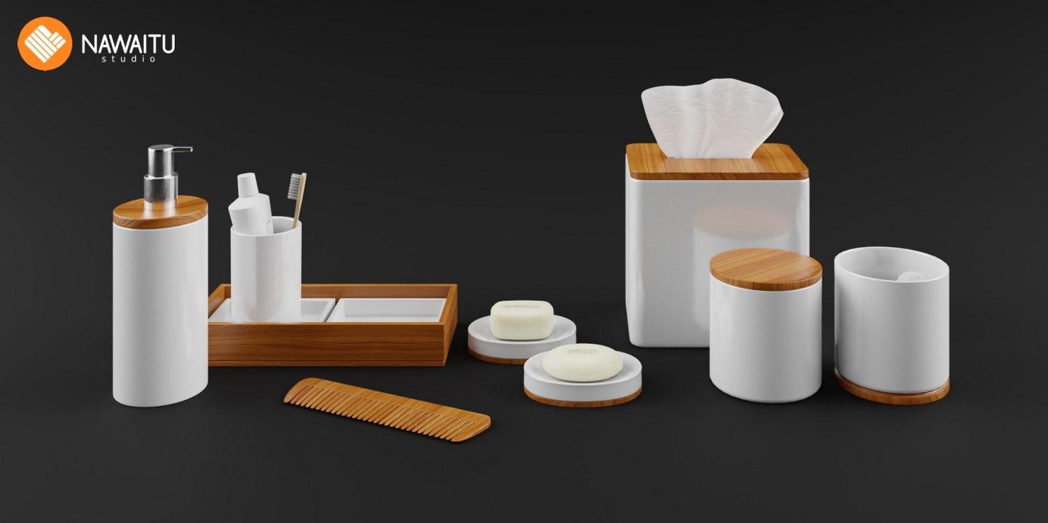 bathroom accessories decoration 3D model