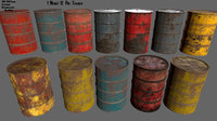 3D container barrel