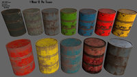container barrel 3D
