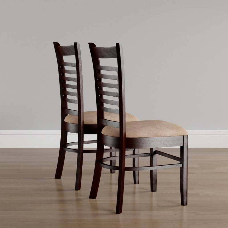 upholstered dining chairs 3D model