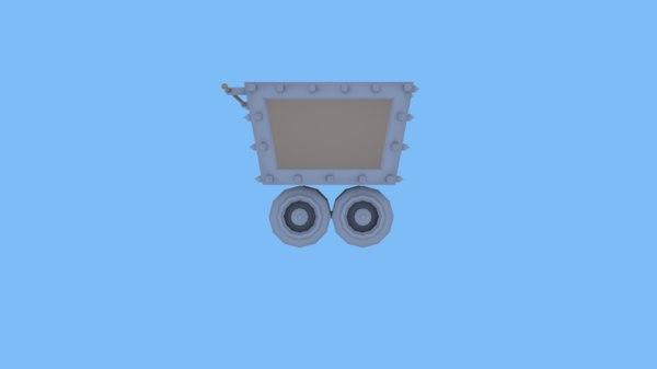 3D minecart model