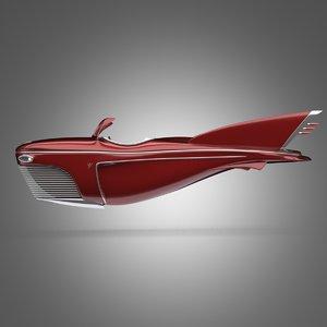 retro flying car 3D model