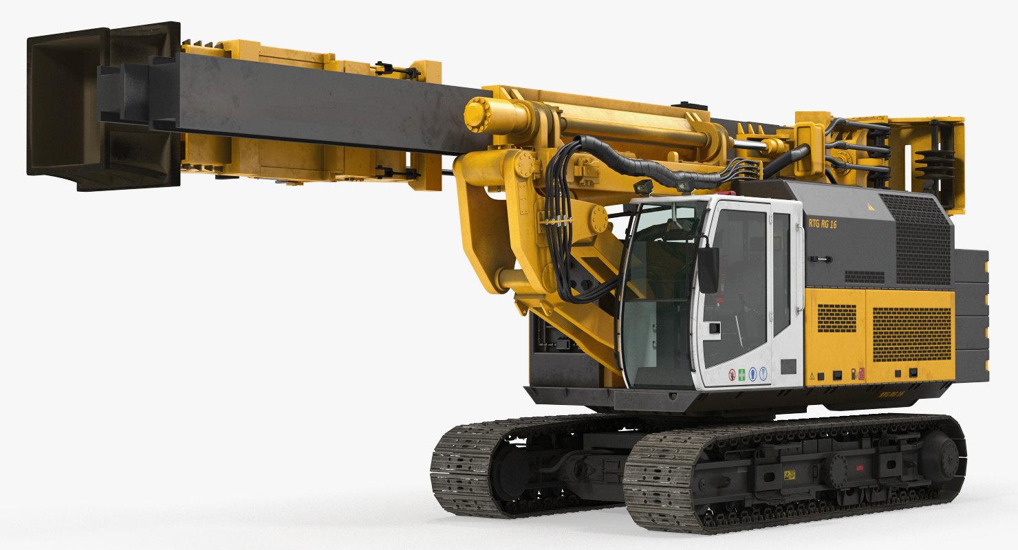 bauer rg16t pile driver 3D