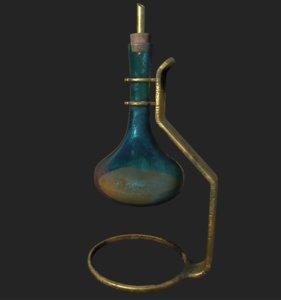 vintage bottles pbr 3D model