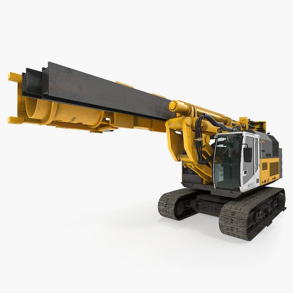 3D model drill machine bauer rg16t