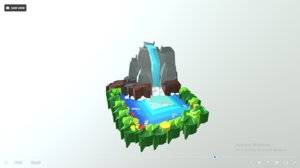 water waterfall nature 3D model