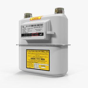 3D gas flow meter model
