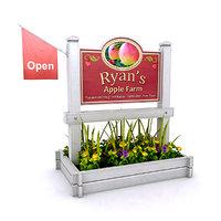 farm sign 3D model
