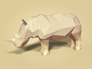 cartoon rhinoceros model
