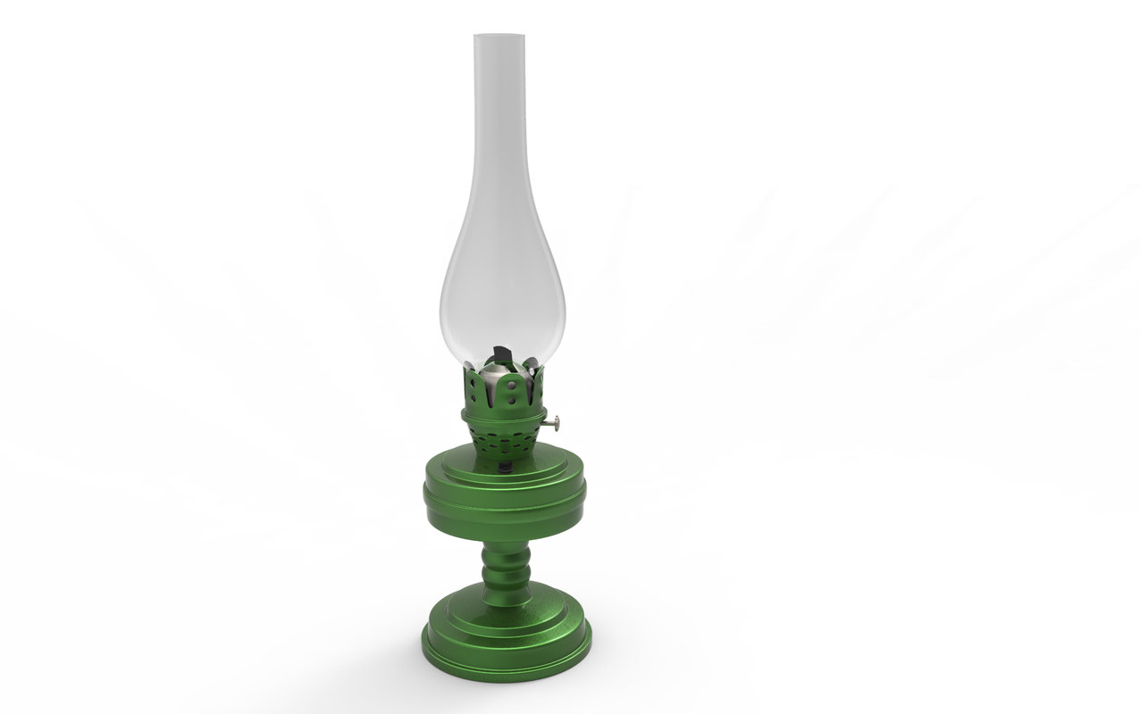 3D kerosene lantern lamp model