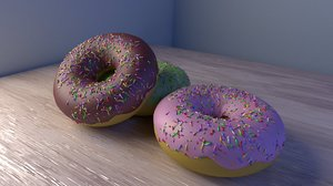doughnuts mug lighting 3D model