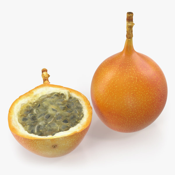 granadilla slice fruit 3D model