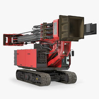 hydraulics pile driver generic 3D