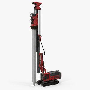 3D hydraulics pile driver generic model