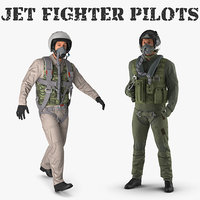 jet fighter pilots 3D model
