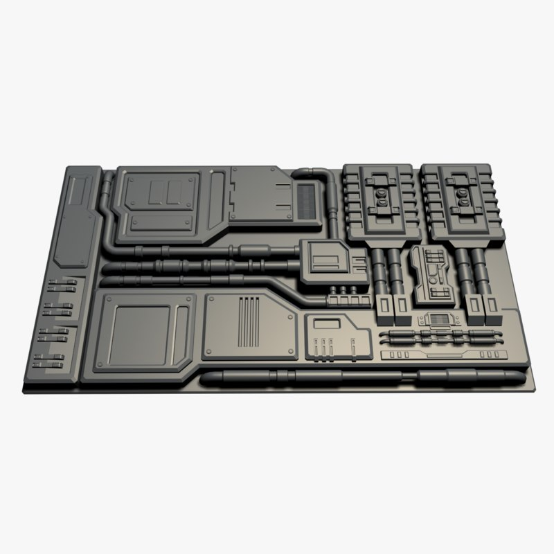 3D element sci-fi model