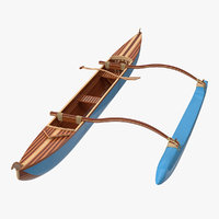outrigger canoe 3D model