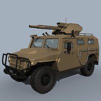 3D vpk-233115 tigr-m brshm vehicle model