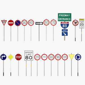 traffic signs pack model