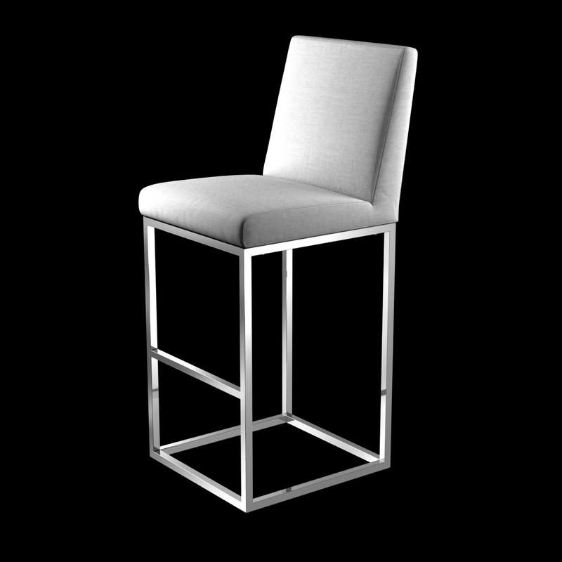 3D bar stool emery armless