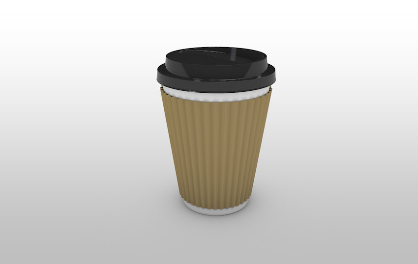 3D away coffee cup