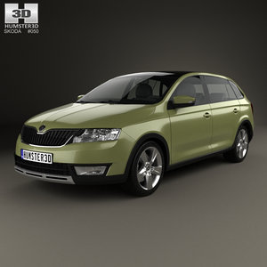 3D skoda rapid spaceback