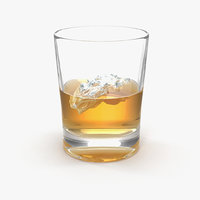 whiskey glass 3D model