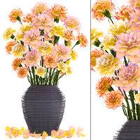 3D bouquet flowers carnations model