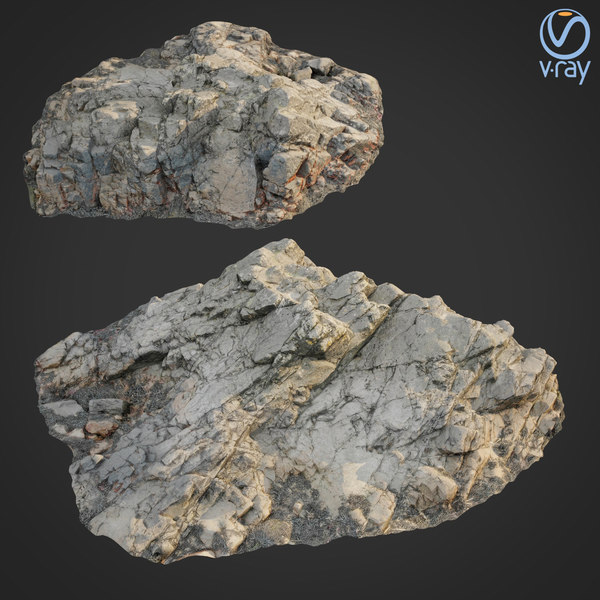 3D scanned rock cliff h2