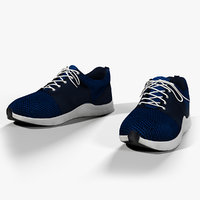 realistic sport shoes model