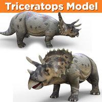 triceratops dinosaur animal 3D model
