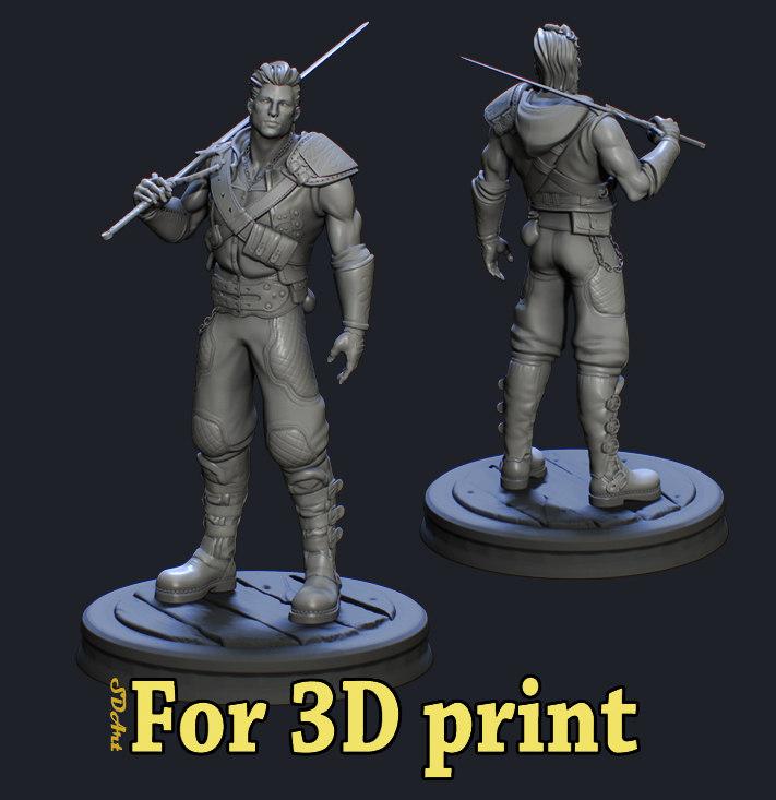 3D warrior print ready