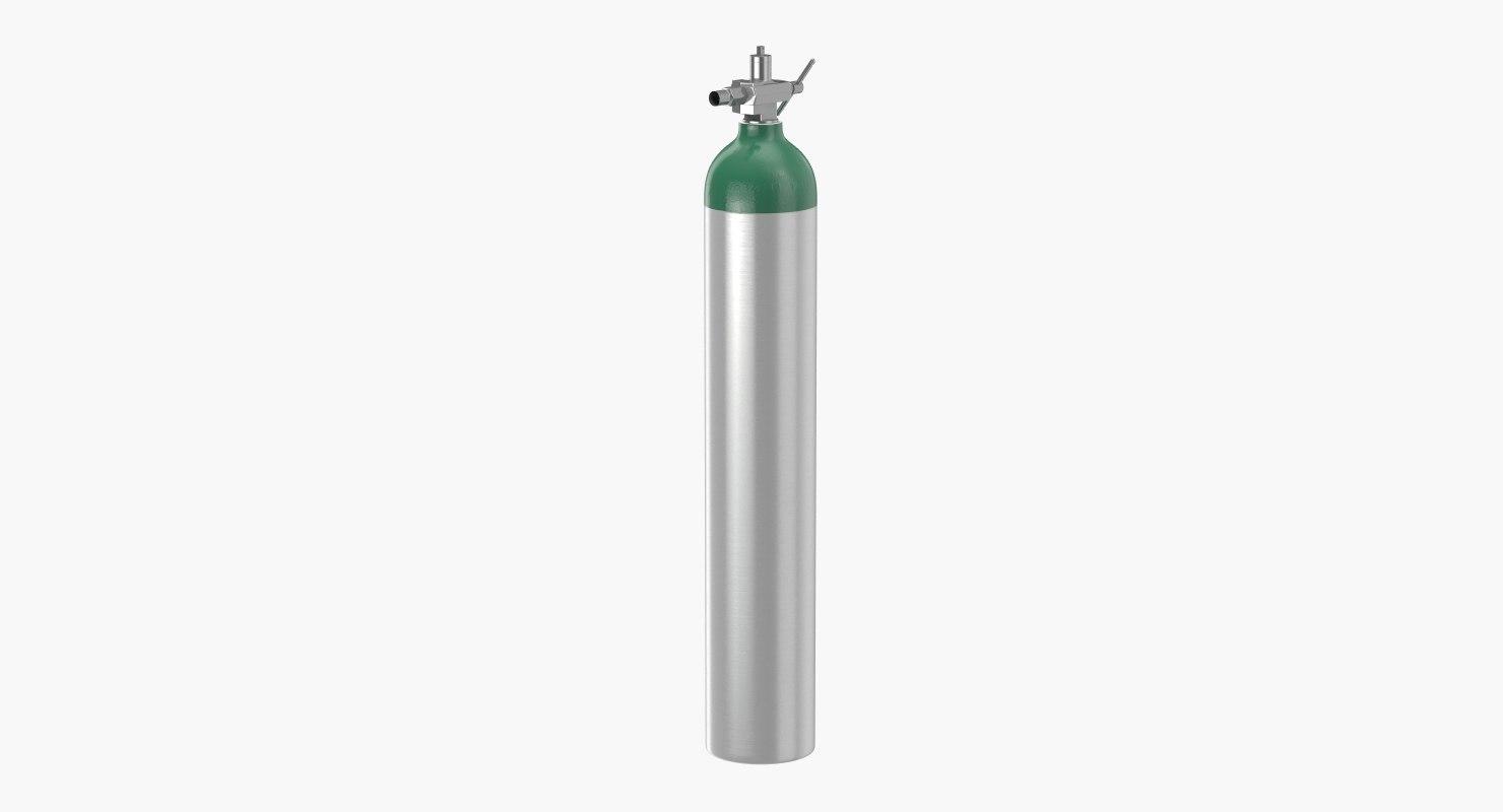 3D oxygen cylinder e-tank model
