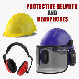 protective helmets headphones model