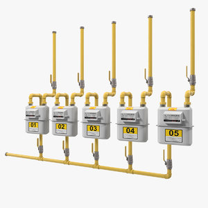 3D row residential natural gas