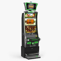 slot machine emerald 3D model