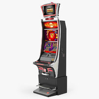 3D slot machine red model