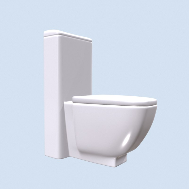 toilet btw 74 sanitana 3D model