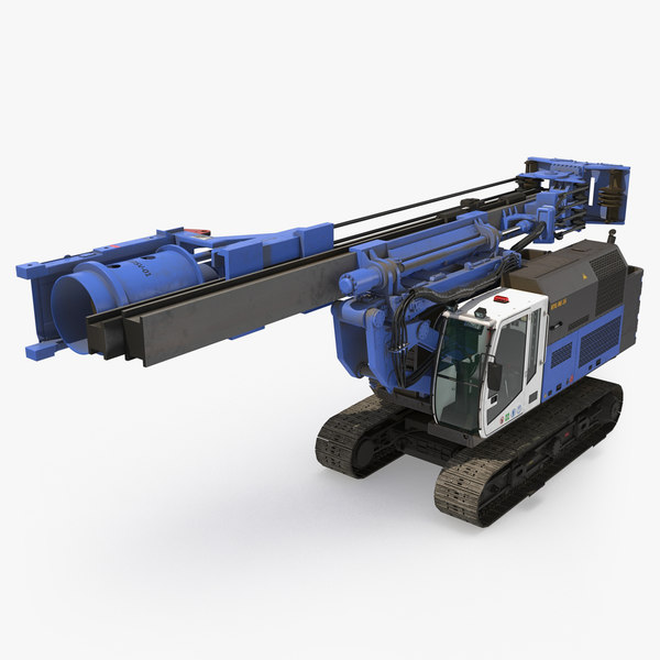 3D spiral drilling machine folded