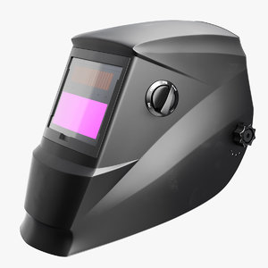 welding mask black 3D model
