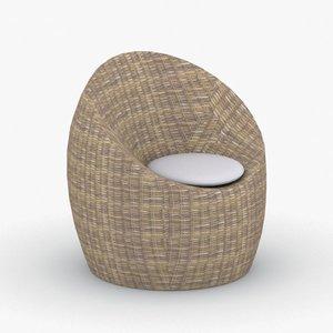 - armchairs bean bags 3D model