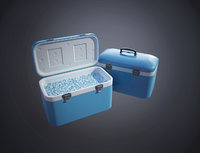 plastic cooler ice model