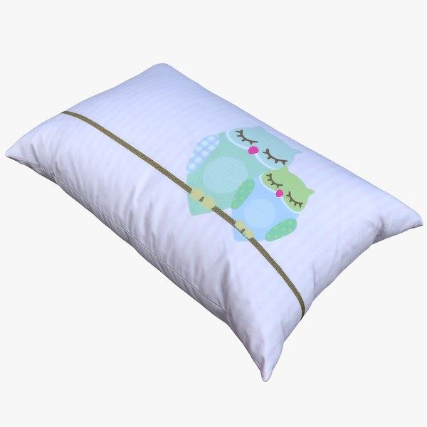 retopology pillow 3D model