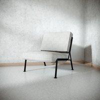 3D enameled metal lounge