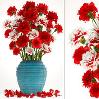 Bouquet of flowers red Carnation