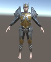fantasy armor iron 3D model