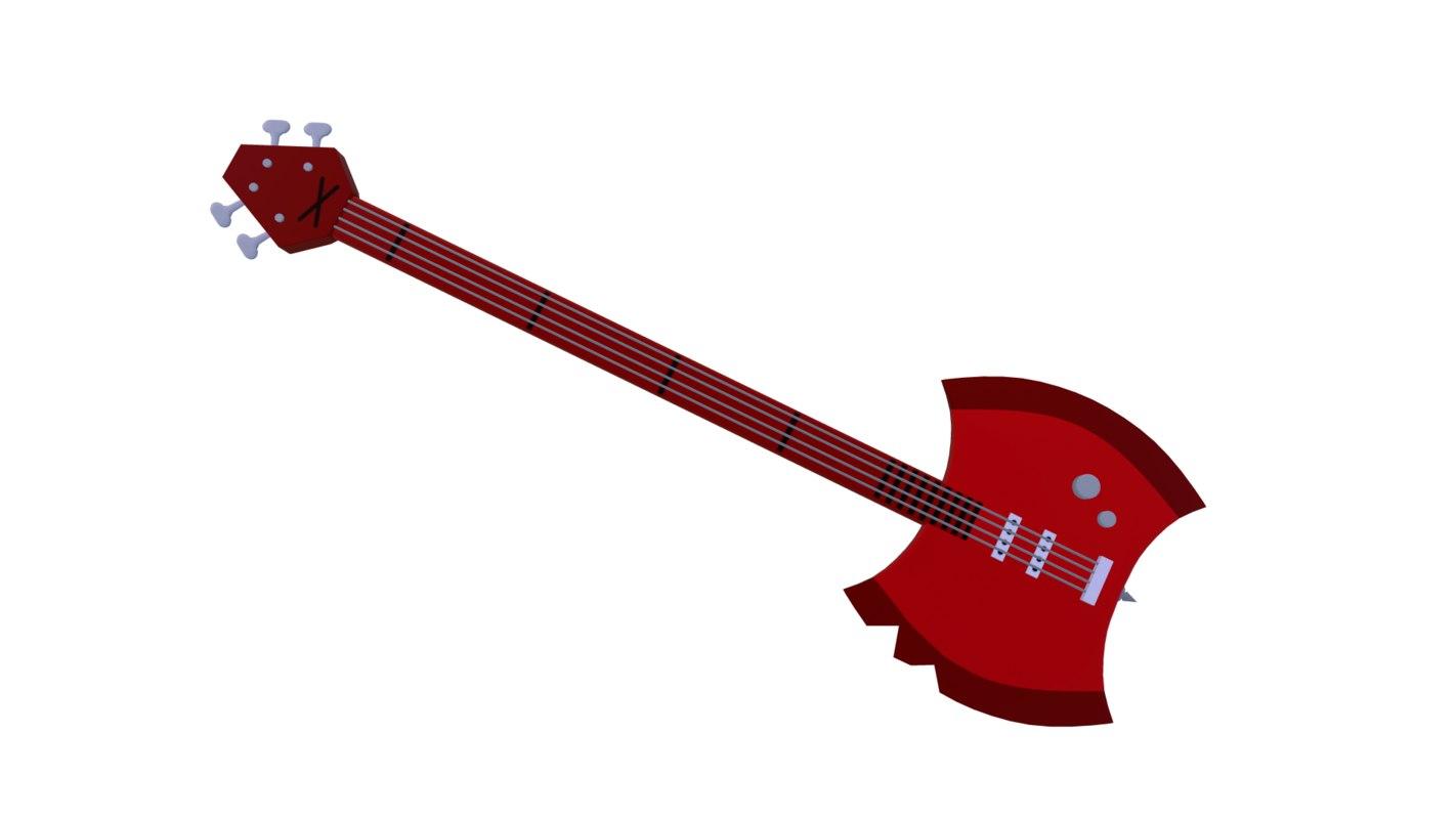 ax bass 3D model