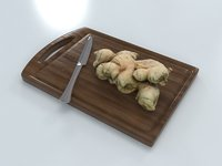 ginger board 3D model