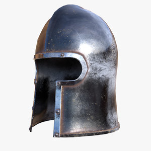 3D model medieval helmets